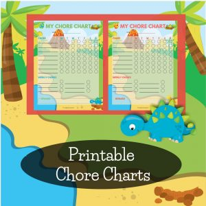 Dinosaur themed chore charts