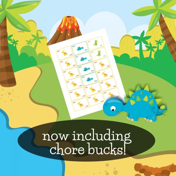 dinosaur chore bucks