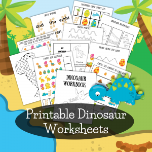 printable dinosaur worksheets for preschoolers- prewriting