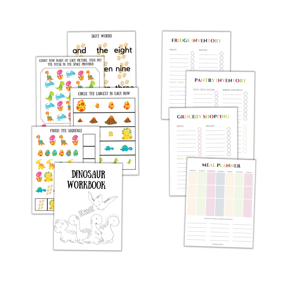 printables for mom and printables for the whole family