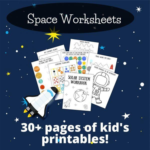 space printables for preschoolers