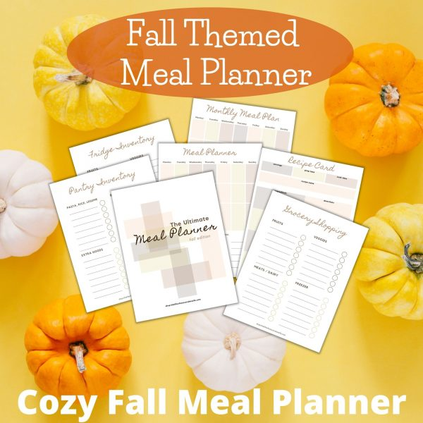 Fall themed meal planners