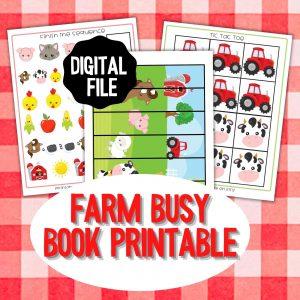 Farm Theme Busy Book