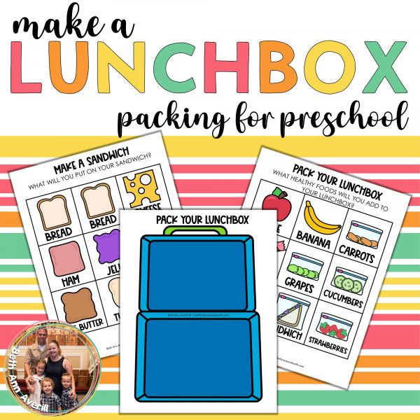 Make a Lunchbox for Preschoolers Printable