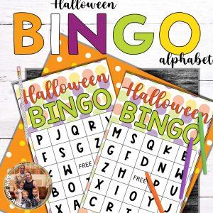 Halloween Alphabet Bingo cards